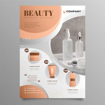 Catalogo dei prodotti di bellezza sfumati con foto