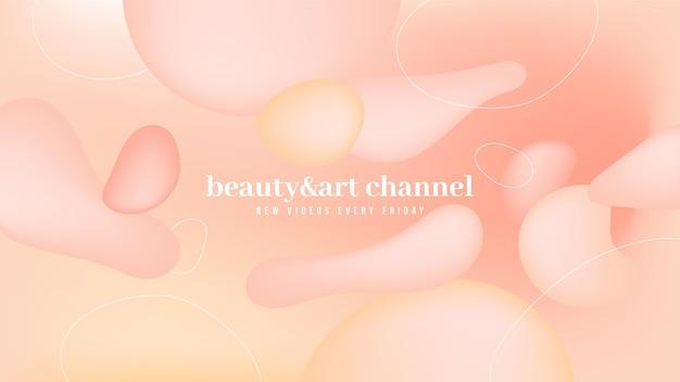 Arte del canale youtube di bellezza sfumata