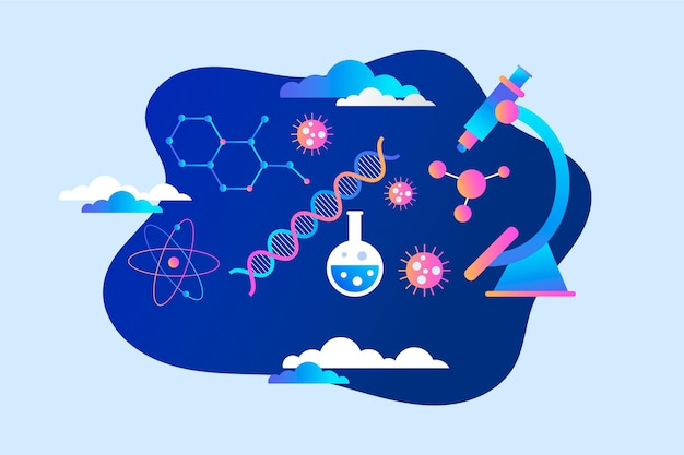 Gradient biotechnology concept illustrated