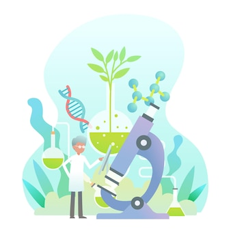 Gradient biotechnology concept