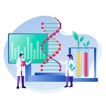 Gradient biotechnology illustration