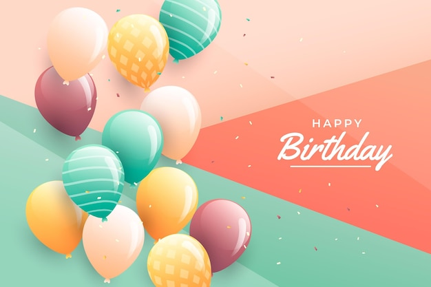 Gradient birthday background