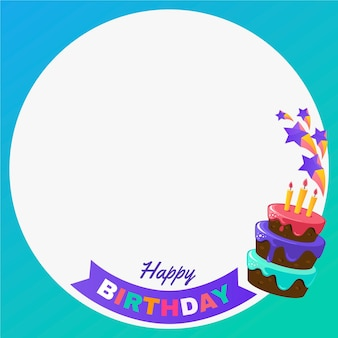 Gradient birthday facebook frame