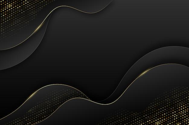 Sfondo nero sfumato con trame dorate