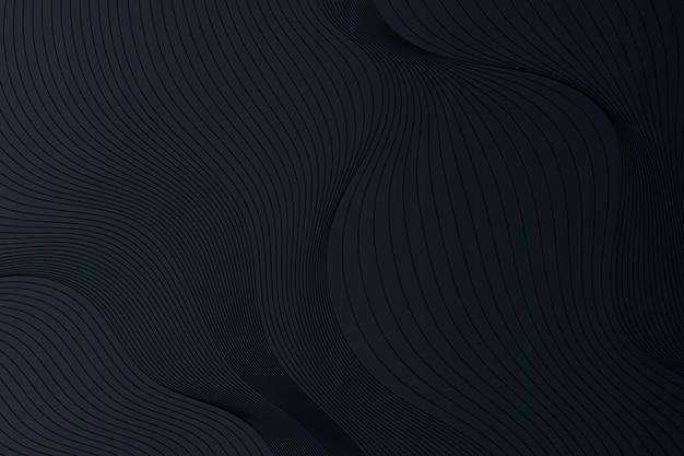 물결선이 있는 그라데이션 검정색 배경