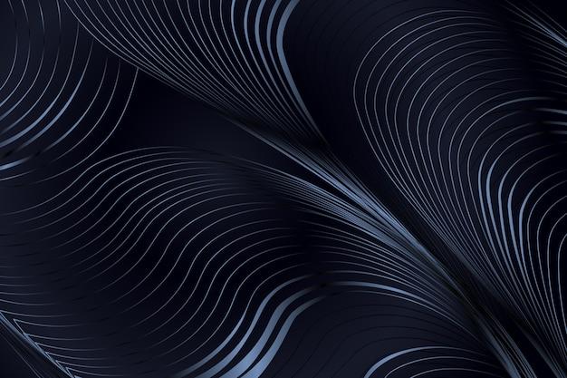 波線のあるグラデーションの黒い背景