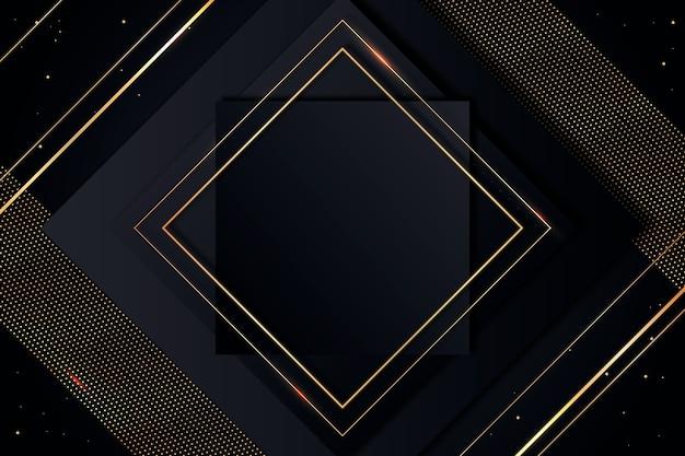 金色のフレームとグラデーションの黒い背景