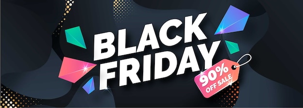 Gradient black friday banner template