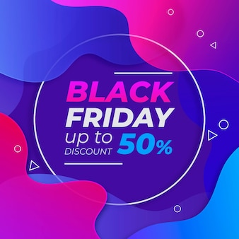 Gradient black friday banner