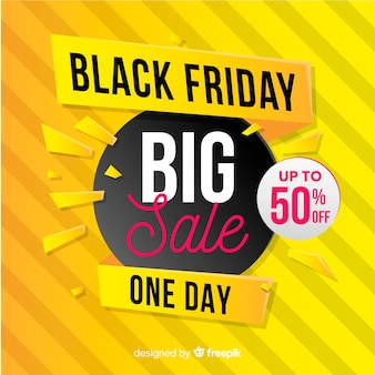 Gradient black friday big sale banner