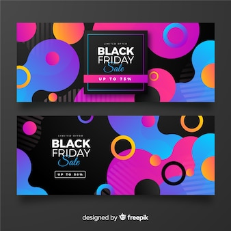 Gradient black friday collection of banners