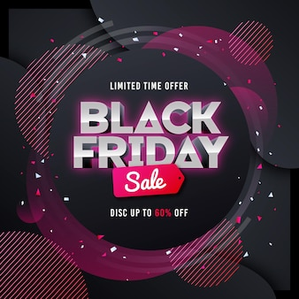 Gradient black friday concept