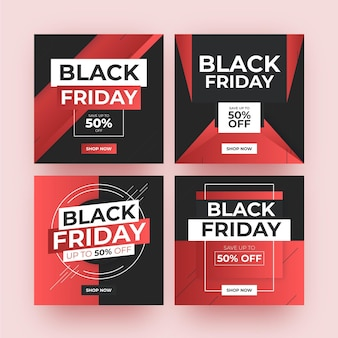 Gradient black friday instagram posts