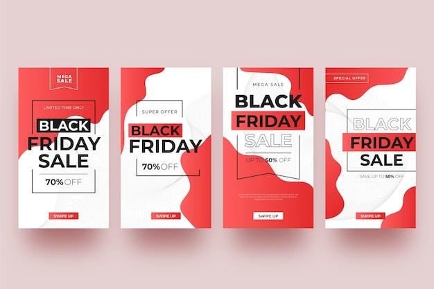 그라디언트 블랙 프라이데이 인스 타 그램 스토리 컬렉션