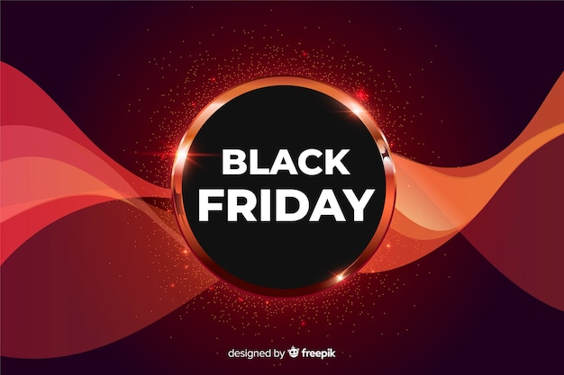 Gradient black friday sale background