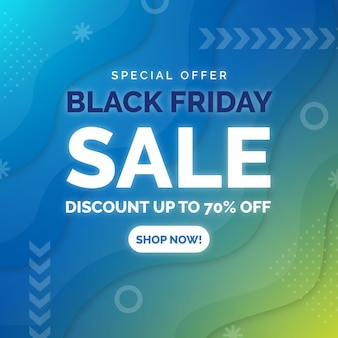 Gradient black friday sale with discount
