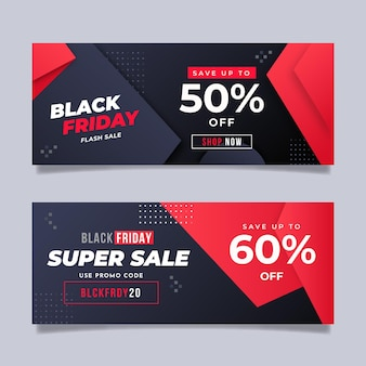Gradient black and red black friday concept