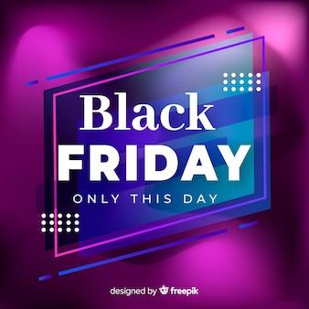 Рекламный баннер gradient black в пятницу
