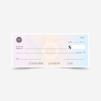 Gradient blank check template