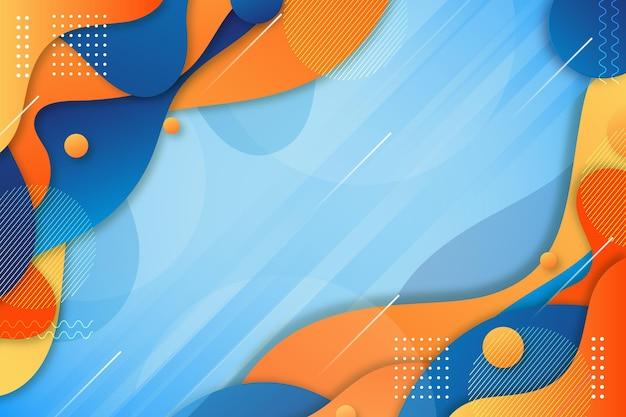 グラデーションの青と黄色の液体の背景