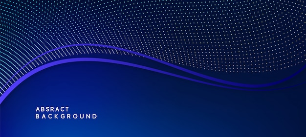 Gradient blue background with particles