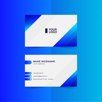 Gradient blue  business card