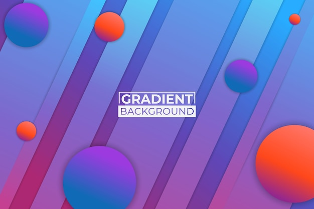 グラデーションブルーオレンジと紫の背景