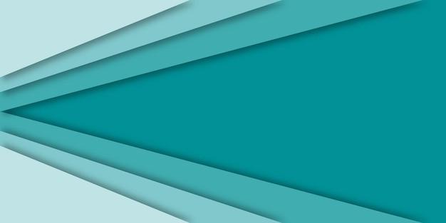 グラデーションの青い紙カットの背景。