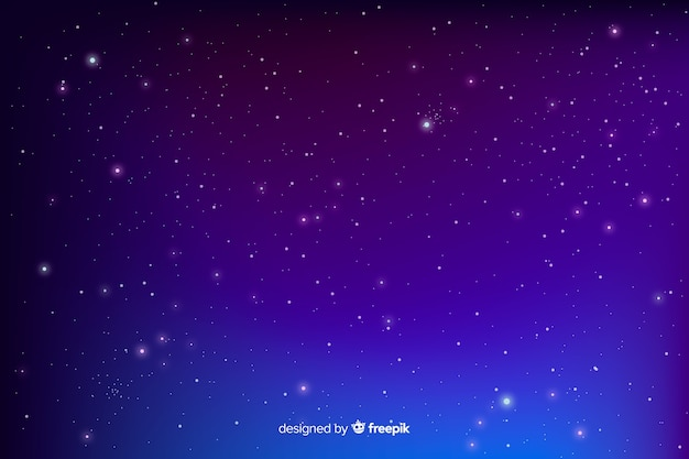 Gradient blue starry night background