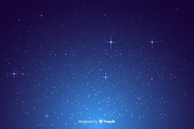 Gradient blue starry night background