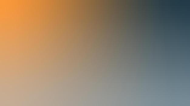 グラデーション、ぼやけたネイビーブルー、ブルーグレー、カーキ、オレンジのグラデーションの壁紙の背景