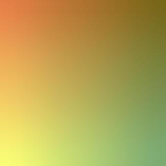 グラデーション、ぼやけたオレンジ、黄色、緑のグラデーション壁紙背景ベクトルイラスト
