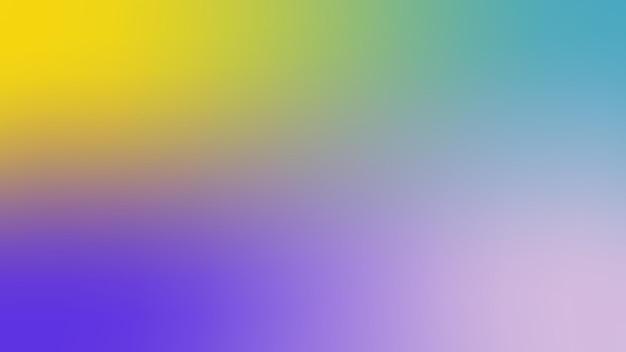 グラデーション、ぼやけたロイヤルブルー、ライラック、青灰色、黄色のグラデーションの壁紙の背景