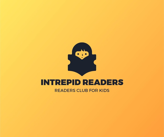 Gradient book logo readers club for kids