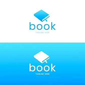 Gradient book logo tagline here