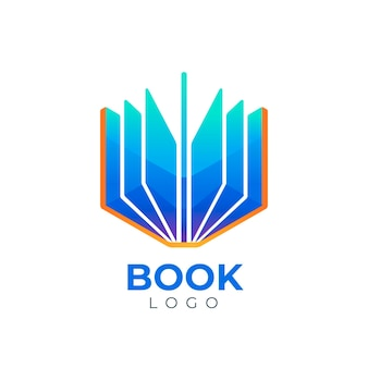 Gradient book logo template
