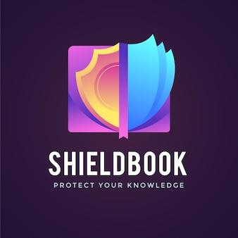 Gradient book logo template