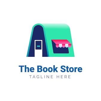 グラデーションの本のロゴのテンプレート 無料ベクター