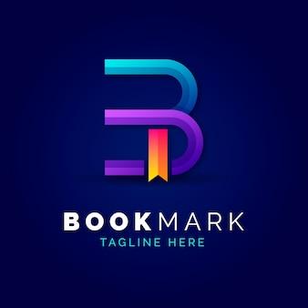 グラデーションの本のロゴのテンプレート