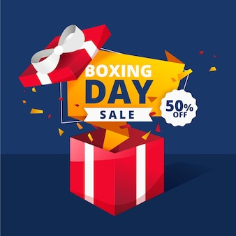 Gradient boxing day sale illustration