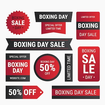 Gradient boxing day sale labels collection