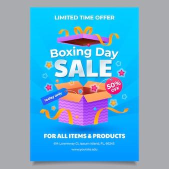 Градиент день бокса продажа вертикальный плакат шаблон
