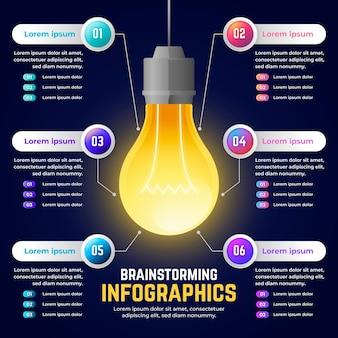 Infografica di brainstorming gradiente