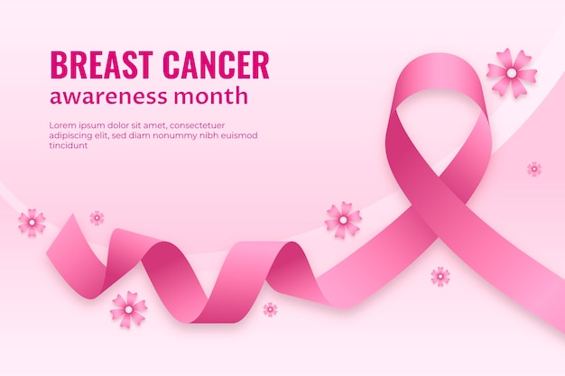 Gradient breast cancer awareness month background