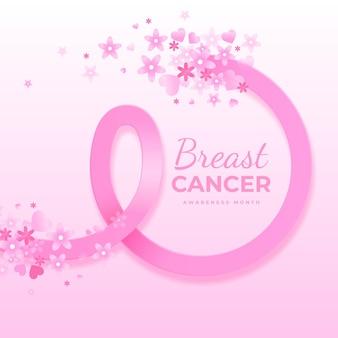 Gradient breast cancer awareness month illustration