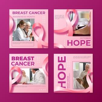 Месяц осведомленности о раке груди в instagram с фото