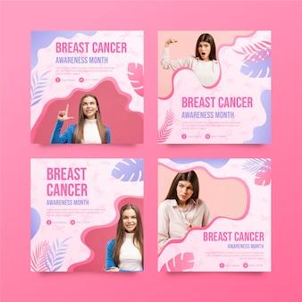 그라데이션 유방암 인식의 달 인스타그램 게시물 모음