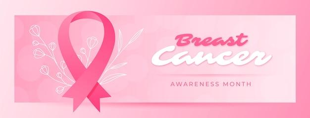 段階的乳がん啓発月間ソーシャルメディアカバーテンプレート