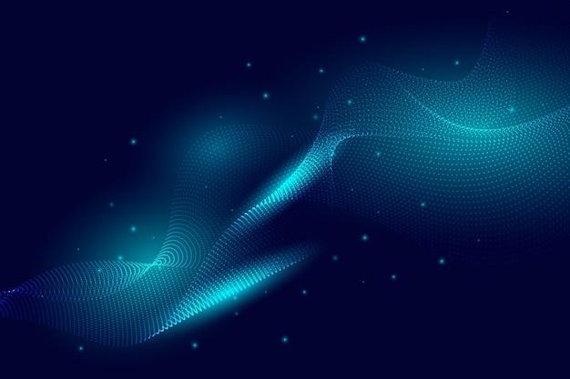 グラデーションの明るい波状の背景