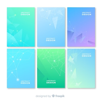 Gradient brochure template collection